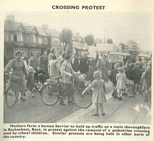 Crossing protest